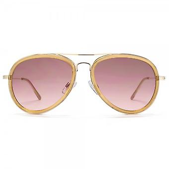 Miss KG Plastic Combo Pilot Sunglasses In Pearlised Nude