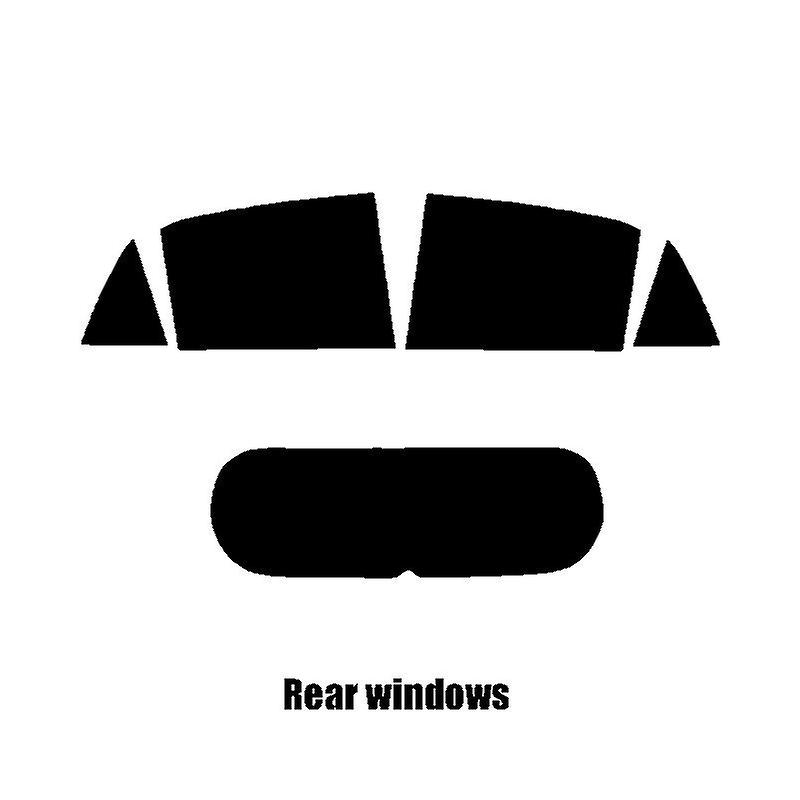 Pre cut window tint - Kia Picanto 5-door - 2017 and newer - Rear windows