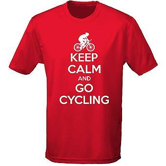 Houd kalm en ga fietsen Mens T-Shirt 10 kleuren (S-3XL) door swagwear