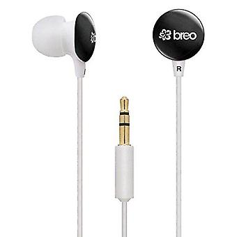 Breo Candy CD7 Black White Candy Drop Headphones Earphones