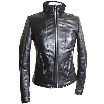 Womens Exotic Karakul Fur Leather Jacket