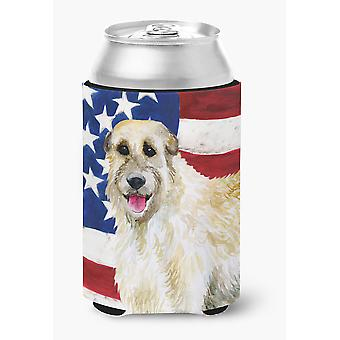 Carolines Treasures  BB9670CC Irish Wolfhound Patriotic Can or Bottle Hugger