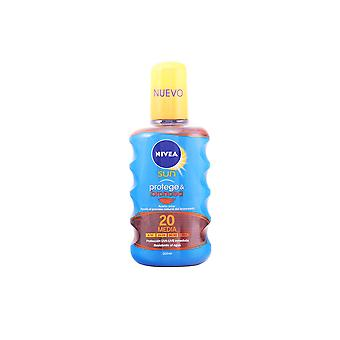 Nivea Sun Protege And Broncea Aceite Spf20 200ml Unisex New Sealed Boxed