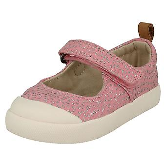 Girls Clarks Casual Canvas Shoes Halcy Wink