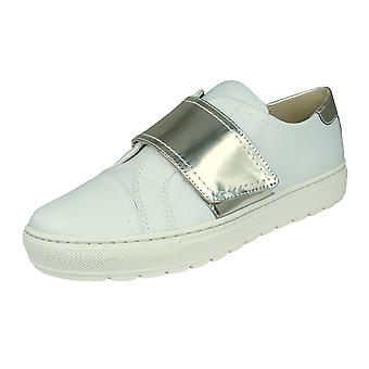 Womens Geox Trainers D Breeda E Nappa Leather Casual Shoes - White