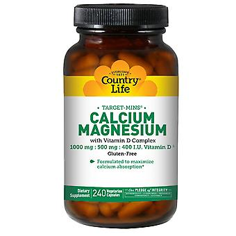 Country Life Cal-Mag + Vitamin D Complex 240 ct
