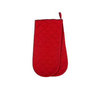 Love Colour Double Oven Glove, Scarlet