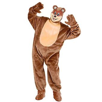Plush Teddy Bear Costume (Costume Gloves Shoe Covers Mask)
