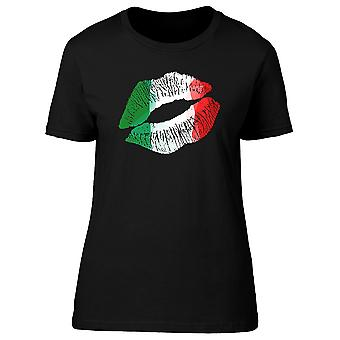 Italian Flag Lipstick Kiss Tee Women's -Image by Shutterstock