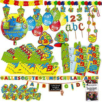 Back to school training party party box 71-teilig school home party package