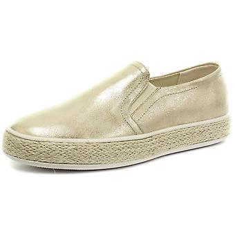 Cipriata Antonia Gold Womens Twin Gusset Casual Slip On Shoes