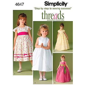 Simplicity Child's Special Occasion Dres-5 6 7 8