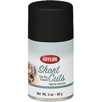 Short Cuts Aerosol Paint 3oz-Flat Black