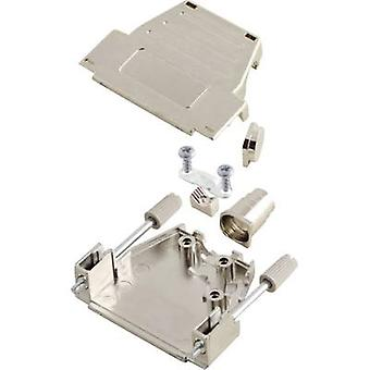 D-SUB housing Number of pins: 37 Plastic, metallised 180 °, 45 ° Silver MH Connectors MHDSSK-M-37-L-K 1 pc(s)