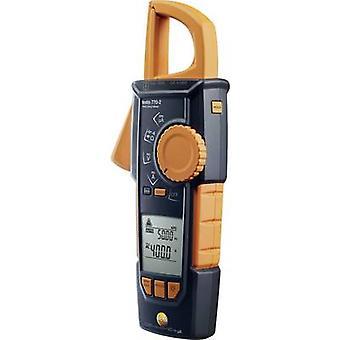 testo 770-2 Clamp meter, Handheld multimeter Digital Calibrated to: Manufacturers standards (no certificate) CAT III 1000 V, CAT IV 600 V Display (counts): 4000