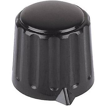 Control knob + hand Black (Ø x H) 15 mm x 16 mm Mentor