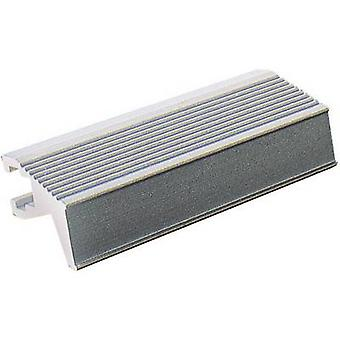 Grab rail Grey (L x W x H) 101.1 x 14 x 12 mm Fischer Elektroni