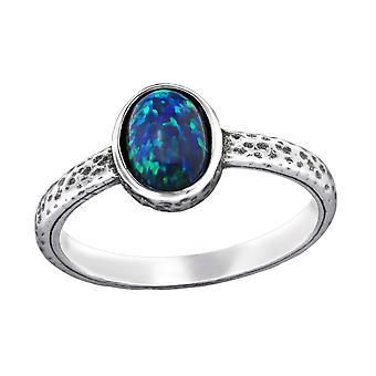 Oval - 925 Sterling Silver Jewelled Rings - W31193X