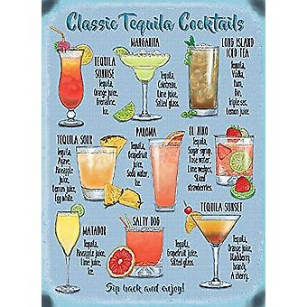 Classic Tequila Cocktails Recipes Small Steel Sign 200Mm X 150Mm