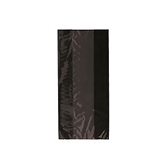 SALE - 30 Long Cellophane Treat Bags with Silver Twist Ties - Black