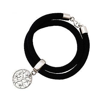 -Bracelet - bracelet - 925 Silver - tree of life - black