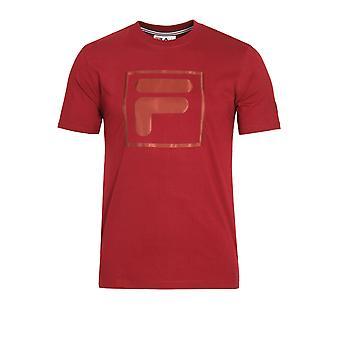 Fila Vintage Alexis Box Logo T-Shirt | Tibetan Red