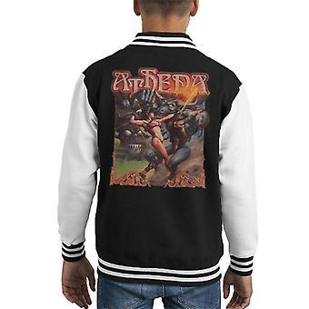 Athena Game Cover Art Kid's Varsity Jacket
