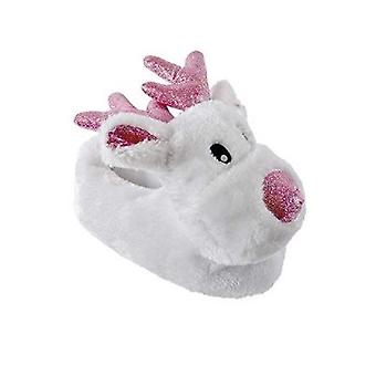 Kids Large 13/1 Children's Rudolf Novelty Slippers UK Sizes Warm Cosy Gift Christmas