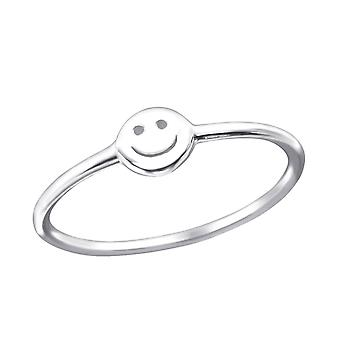 Smile - 925 Sterling Silver Plain Rings - W23776x