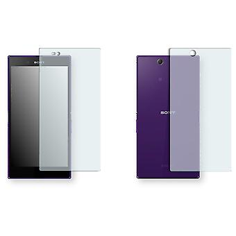 Sony Xperia C6802 display protector - Golebo crystal-clear protector (1 front / 1 rear)