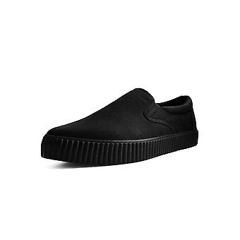 TUK Shoes Black Basic Twill Pointed EZC Slip-On