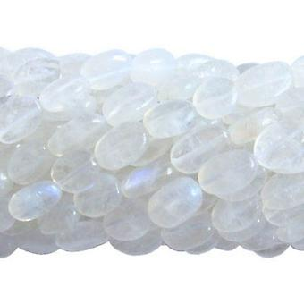 30+ White Rainbow Moonstone Approx 5 x 7mm-7 x 9mm Oval Handcut Beads DW1685