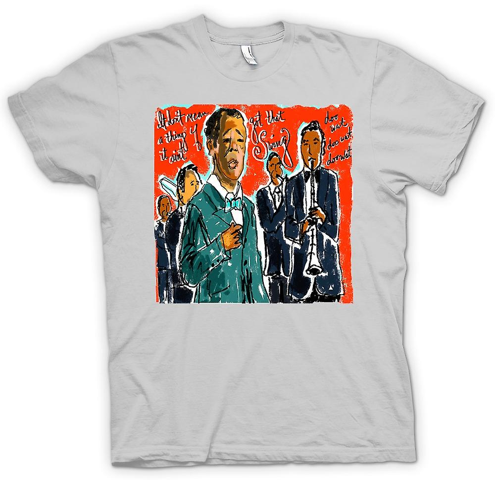 Mens T-shirt - Jazz Swing Poster