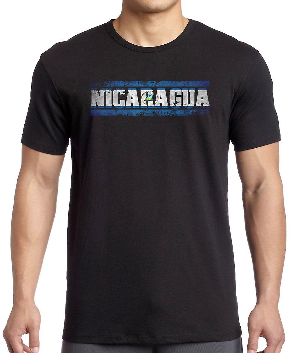 Bandiera del Nicaragua - parole T Shirt