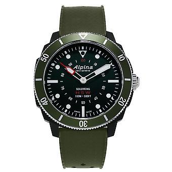 Alpina Seastrong Green Men's Horological Smartwatch AL-282LBGR4V6