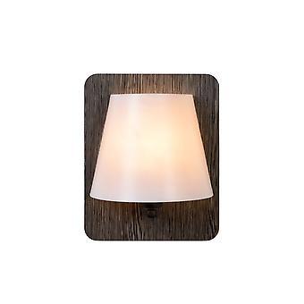 Lucide Idaho moderno retângulo cinza de madeira e parede de luz de opala