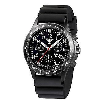 KHS watches mens watch black platoon titanium chronograph KHS. BPTC. DB