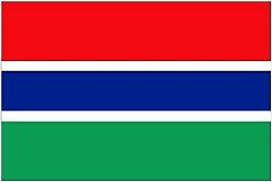 Gambian Flag 5ft x 3ft With Eyelets For Hanging