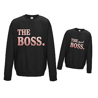 Rose Gold The Boss / The Real Boss Matching Sweater Set