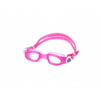 Aqua Sphere Moby Junior Swim Goggle - Clear Lens- Pink/White Accents