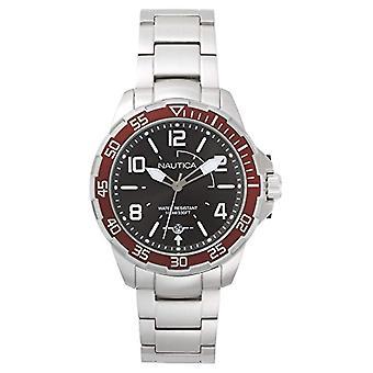Nautica Analogueico Watch quartz men with stainless steel strap NAPPLH005