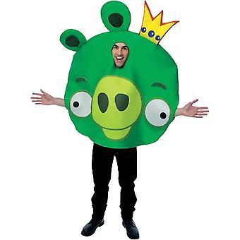 Costume adulto di Angry Birds re maiale