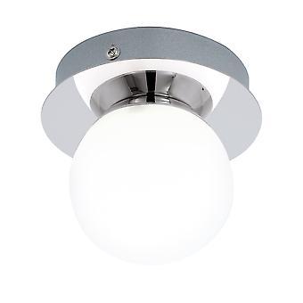 Eglo - Mosiano solo luz rasante baño techo montaje en cromo pulido y ópalo vidrio acabado EG94626