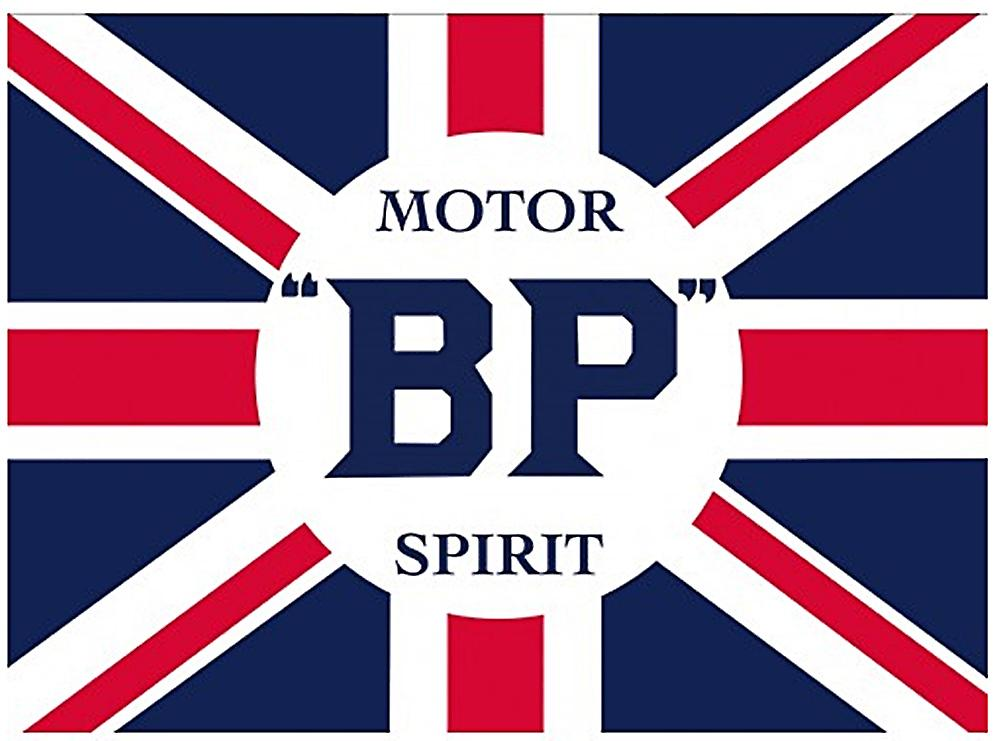 BP Motor Spirit Steel Sign    (fd)