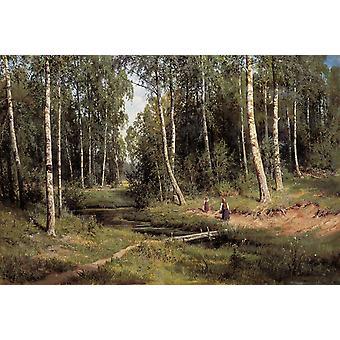 Landskap, Ivan Shishkin, 40x60cm med brett
