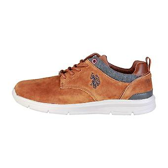 U.S. Polo Men Brown Lace up -- WALD234416