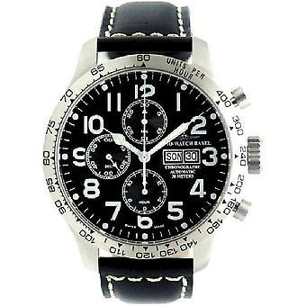 Zeno-watch montre Chrono DD pilote surdimensionné tachymètre 8557TVDDT-a1