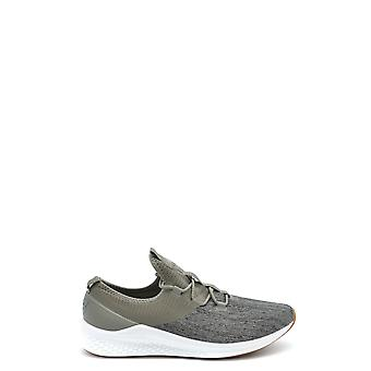 New Balance Grey Fabric Sneakers
