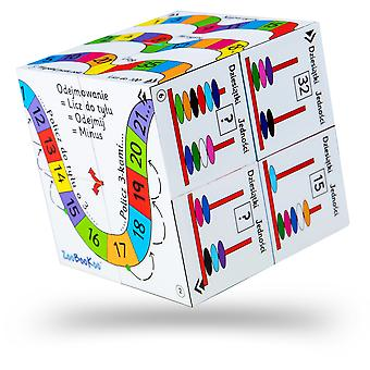 ZooBooKoo Polish Addition and Subtraction Cubebook - Fold-Out Cube