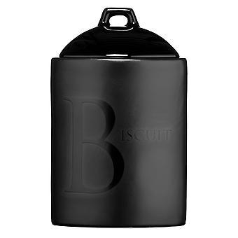 Black Text Biscuit Storage Jar Ceramic Also Available Tea/ Coffee/Sugar